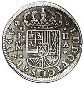 2 Reales - Luis I (Madrid) – obverse