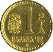 1 Peseta - Juan Carlos I (1982 FIFA World Cup) -  reverse