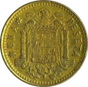 1 Peseta - Juan Carlos I – reverse