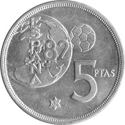 5 Pesetas - Juan Carlos I (España '82) -  reverse