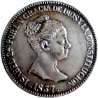 20 Reales - Isabel II -  obverse