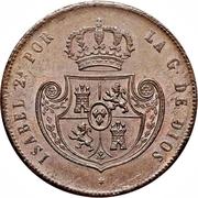 ½ Real - Isabel II -  obverse