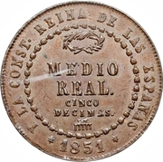 ½ Real - Isabel II -  reverse