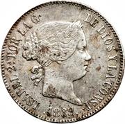 1 Escudo - Isabel II – obverse