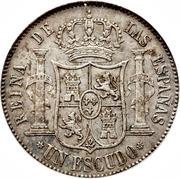 1 Escudo - Isabel II – reverse