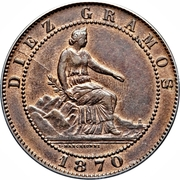 10 Centimos - Provisional Government -  obverse