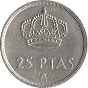 25 Pesetas -  Juan Carlos I (with mintmark) -  reverse