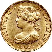 10 Escudos - Isabel II -  obverse