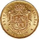 10 Escudos - Isabel II – reverse