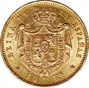 10 Escudos - Isabel II -  reverse