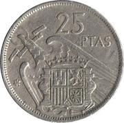 25 Pesetas - Francisco Franco -  reverse