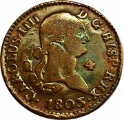 4 Maravedis - Carlos IV – obverse
