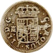 ½ Real - Carlos III (cross) – obverse