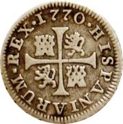 ½ Real - Carlos III (cross) – reverse