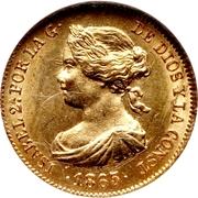 2 Escudos - Isabel II – obverse