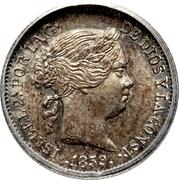 1 Real - Isabel II – obverse