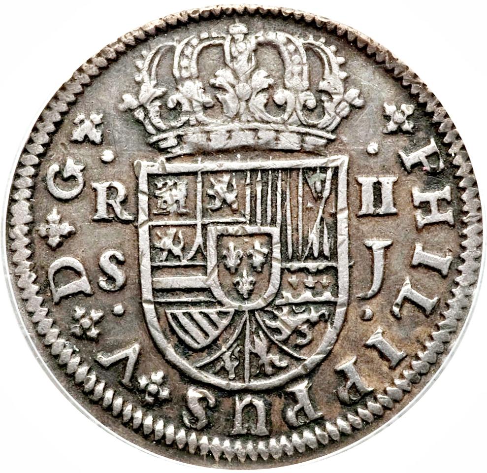 foto de 2 Reales Felipe V (Seville; 1st type) Spain Numista