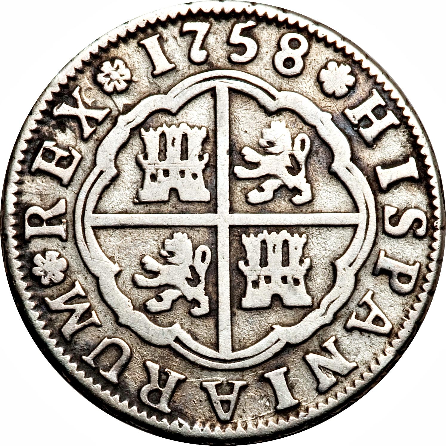 foto de 2 Reales Fernando VI Spain Numista