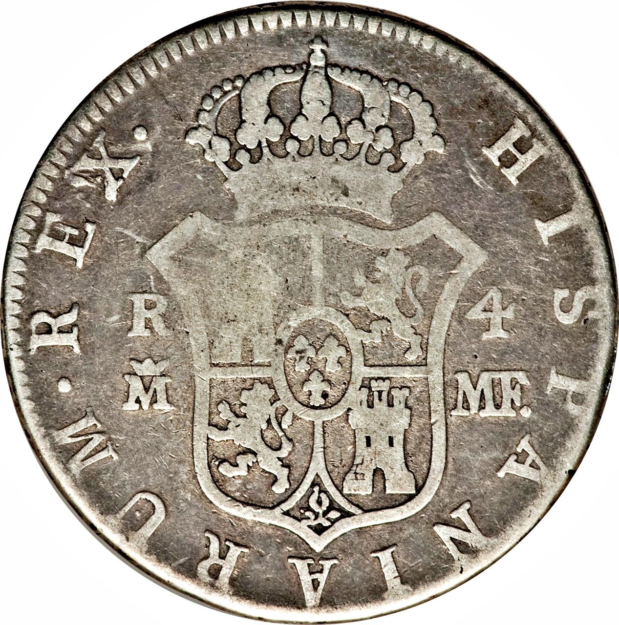 foto de 4 Reales Carlos IV Spain Numista