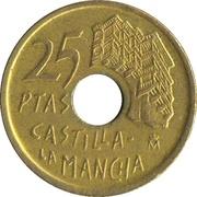 25 Pesetas (Castilla-La Mancha) -  reverse