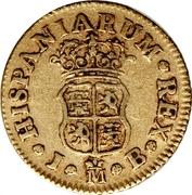½ Escudo - Fernando VI (Madrid,1st type) – reverse