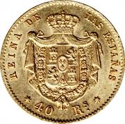 40 Reales - Isabel II – reverse