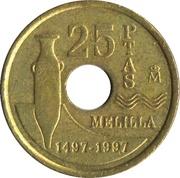25 Pesetas (Melilla) -  reverse
