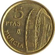 5 Pesetas (Murcia) -  reverse