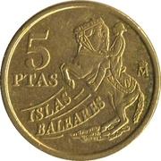 5 Pesetas (Islas Baleares) -  reverse