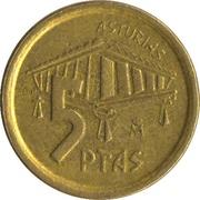 5 Pesetas (Asturias) -  reverse