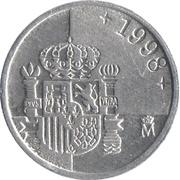 1 Peseta - Juan Carlos I -  reverse