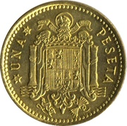 1 Peseta - Francisco Franco (2nd portrait) -  reverse
