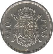 50 Pesetas - Juan Carlos I -  reverse