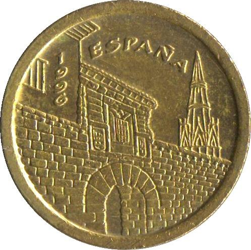 Монета 5 песет 1975 г
