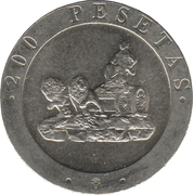 200 Pesetas - Juan Carlos I -  reverse