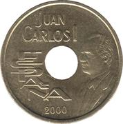 25 Pesetas - Juan Carlos I -  obverse