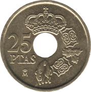 25 Pesetas - Juan Carlos I -  reverse
