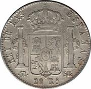 20 Reales - Fernando VII (Madrid; 3rd portrait) – reverse