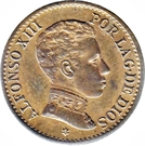 1 Centimo - Alfonso XIII (4th portrait) – obverse