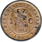 1 Centimo - Alfonso XIII (4th portrait) – reverse