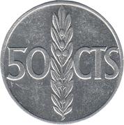 50 Centimos - Francisco Franco -  reverse