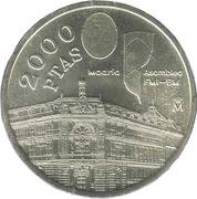2000 Pesetas - Juan Carlos I -  reverse