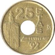 25 Pesetas (Seville '92; Torre del Oro) -  reverse