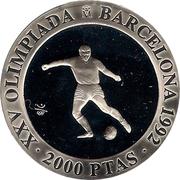 2000 Pesetas - Juan Carlos I (Soccer) -  reverse