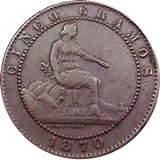 5 Centimos - Provisional Government -  obverse