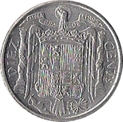 10 Centimos - Iberian rider -  reverse