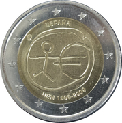2 Euro (10 Years of EMU) -  obverse