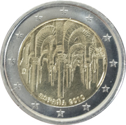 2 Euro (Mosque–Cathedral of Córdoba) -  obverse
