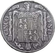 5 Centimos - Iberian rider -  reverse