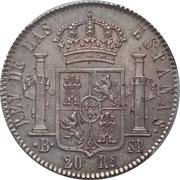 20 Reales - Fernando VII (Large legend) – reverse